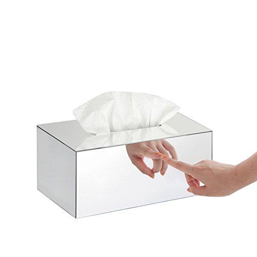 Jack Cube MK106A Papiertuch/Taschentuch/Kosmetiktuch-Halter für Badezimmerablagen und Frisiertische Mirror-Rectangle