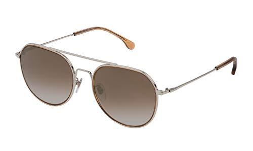 Lozza Herren SL233055579G Sonnenbrille, Total Shiny Palladium, 55/19/145
