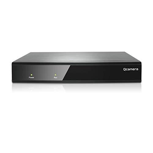Q-camera 16CH 5M-N/1080N Híbrido AHD/TVI/CVI/Analógico/Onvif IP DVR H.265 CCTV Grabador de Video para la cámara del Sistema de vigilancia de Seguridad doméstica (Sin Disco Duro)