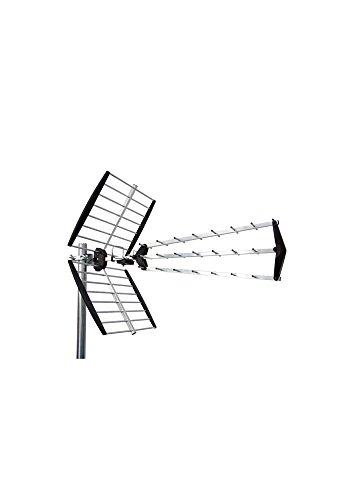 Engel Axil AN0546L - Antena Exterior 27 Elementos Plegable, Aluminio/Negro