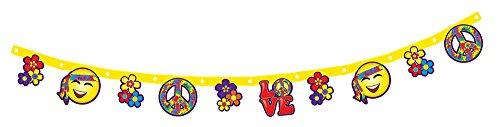 Forum Novelties X75881 hippie Décoration Bannière, Multicolore, taille unique