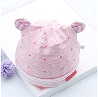 Baby Decoration Hat Infant Ear Star Fetal Cap Newborn Hat Baby Packable Soft Hedging Cap for 0-3 Months(Pink) Cute Cap (Color : Pink, Size : Head Circumference)