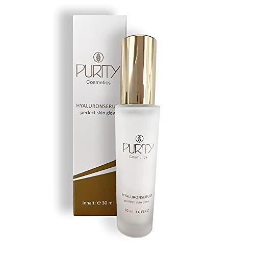 PURITY Cosmetics 2in1 Hyaluronsäure-Serum und Tagescreme mit quervernetzter und hochkonzentrierter Hyaluronsäure   Feuchtigkeitsbooster und Anti-Aging Effekt   Vegane Gesichtspflege mit Kokosöl