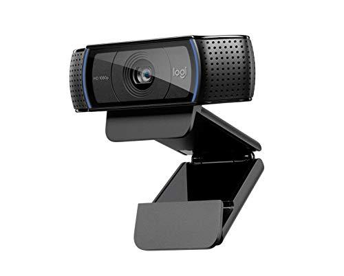 Logitech C920 HD Pro Webcam per Amazon, Videochiamata Full HD 1080p 30fps, Audio Stereo Chiaro, Correzione Luce HD, Funziona con Skype, Zoom, FaceTime, Hangouts, PC Mac Laptop Macbook Tablet, Nero