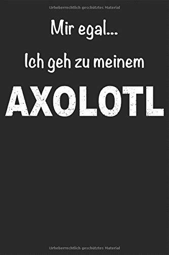 Axolotl Amphibie Aquarium Molch Lurch Haustier Notizbuch