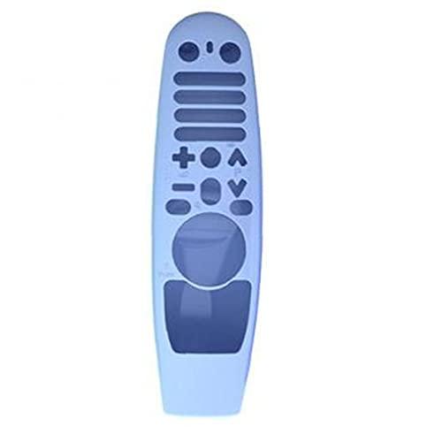 Odoukey Bolsas y Cajas Caja alejada de Silicona Compatible con el Mando a Distancia AN-MR600 Resplandor de la luz Azul LG Smart TV