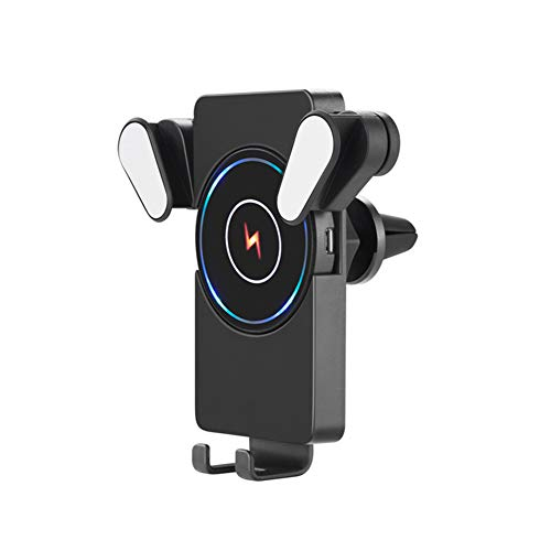Hihey Telefoonhouder voor in de auto, voor mobiele telefoon, oplader, stopcontact, automatische inductie, draadloos snellaadapparaat