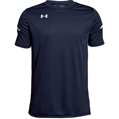 Under Armour Boys' Youth Golazo 2.0 Jersey , Midnight Navy (410)/White , Youth Large