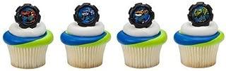 Blaze Wheels Cupcake Rings - 24 ct