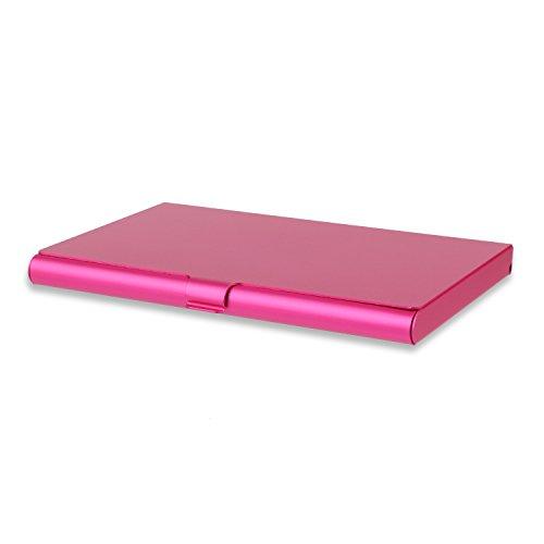 Professional Business Name Card Holder Case Wallet Credit Card Book Slim Design For Men and Women (Rose Red)