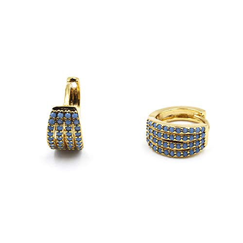Orecchini Donna Placcato ORO 24K e Pietre Color Turchese VENURY JBEM010224A Gold Plated a monachella eleganti e raffinati