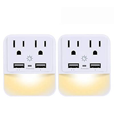 USB Wall Charger, Outlet Adapter, POWRUI 2-Pack...