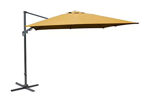Proloisirs Parasol Deporte 3X3/8 Nh20 Inclinable Manivelle - Curry