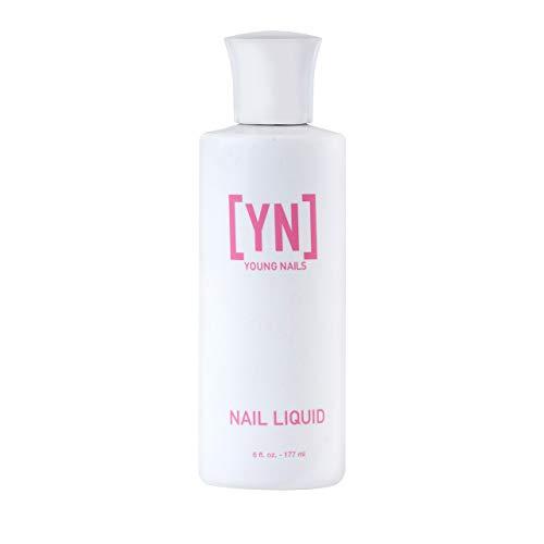 Young Nails Nail Liquid. Professional Grade Hight Quality Monomer. Use with Nail Powder for Acrylic Nails At Home. Low Odor, Mess + MMA Free, Non-Yellowing Nail Liquid