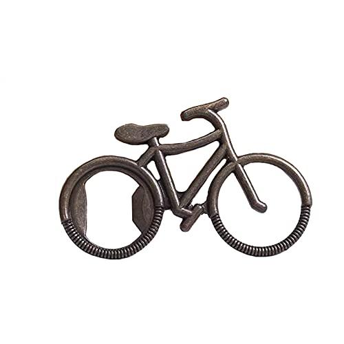 RUIXFWA - Apribottiglie per bicicletta, stile retrò, per bar, feste, cucina, bar, altalena familiare, regalo per uomo, produzione in lega di zinco, apribottiglie per bici