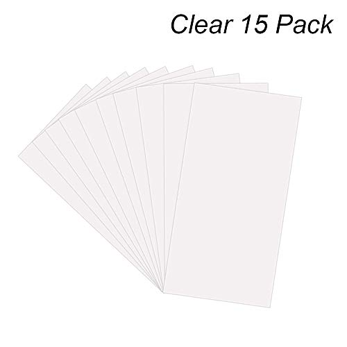 15 Pack 6 Mil CLEAR Mylar Stencil Sheets, 12' x 24' Blank Stencils, Reusable Template Material, Make Your Own Stencil Compatible Vinyl Cutting Machine