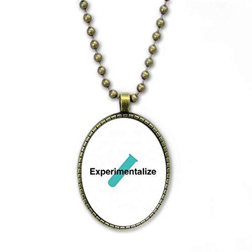 Labor Science Test Tube Physik Halskette Vintage Chain Bead Anhänger Schmuckkollektion