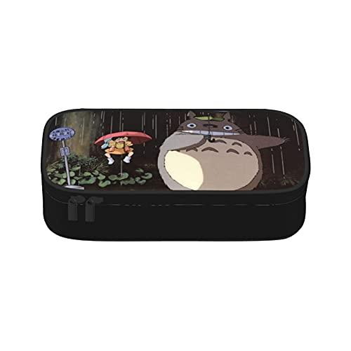 My Neighbor Totoro - Estuche para lápices de gran capacidad, compartimentos para lápices, organizador de escritorio para artículos de oficina y escuela
