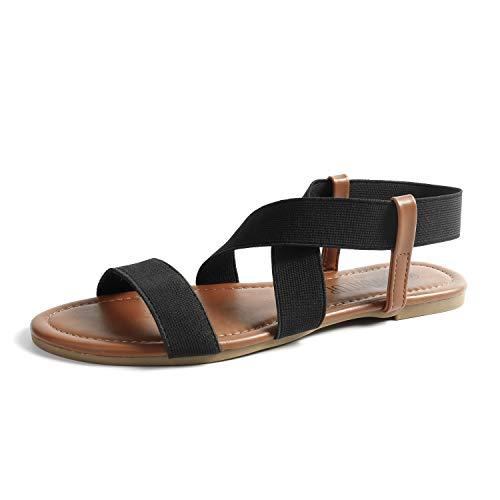 SANDALUP Neue elastische Sandalen für Damen Summer Neue Schwarz 07