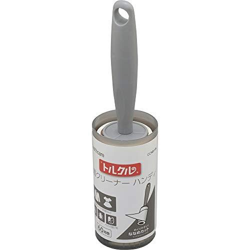 アイリスオーヤマ 粘着クリーナー 本体 ハンディ 服 カーペットクリーナー ななめカット ホワイト テープ(100㎜×60巻き)本体(高23cm) トルクル CCNB-HN