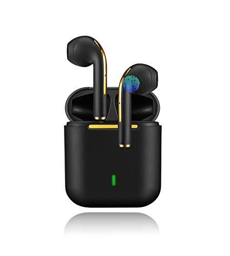 Auriculares Bluetooth inalámbricos In-Ear Auriculares Deportes Control Táctil Estéreo 3D HD Emparejamiento Automático IPX7 Impermeable Reducción de Ruido Wireless Auriculares-Negro
