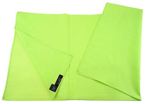 TigerTie TigerTie Damen Nickituch Halstuch in leuchtgrün einfarbig Uni - Tuchgröße 60 x 60 cm - 100% Baumwolle