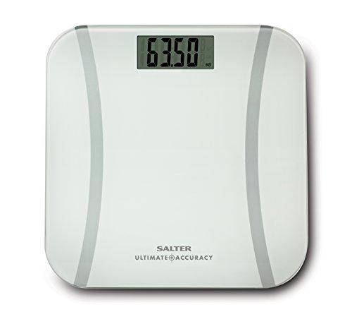 Salter 9073 WH3R - Salter. Báscula de baño, plataforma de vidrio templado, medición precisa que pesa hasta 0.50 g, capacidad 180 kg, 15 años de garantía ✅