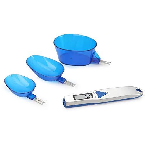 HT-328G 500g / 0.1g Cucharas medidoras digitales precisas portátiles de cocina Cuchara electrónica Peso Alimentos Pantalla LCD Báscula de alimentos - Azul
