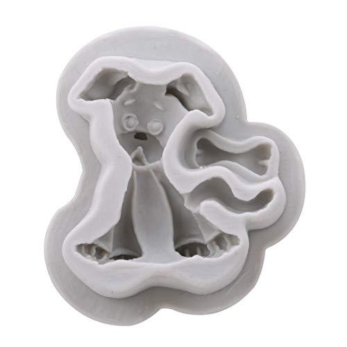 Weryffe Hundeknochen Katze Fisch Tier Form Fondantform Silikonform Kuchen Dekorieren Tools Schokolade Gum Paste Form (Grau)