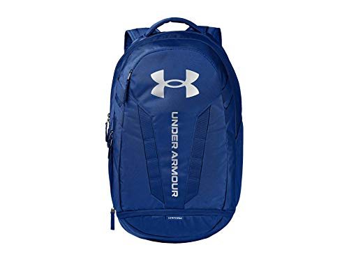 Under Armour Adult Hustle 5.0 Backpack , Royal Blue (400)/Silver , One Size Fits All