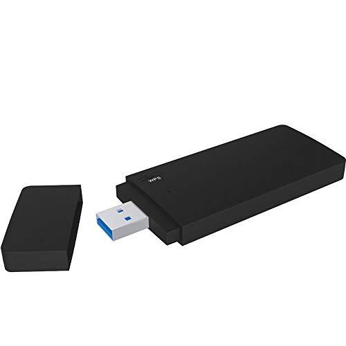 Adaptador inalámbrico de WiFi para USB, 1900Mbps 5GHz USB3.0 Adaptador de WiFi Banda Dual, Tarjeta de Red inalámbrica Banda Dual Receptor de WiFi para PC