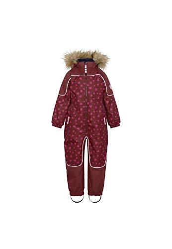 Racoon Girls Isabel Heart Winter Suit Snowsuit, Bordeaux, 140