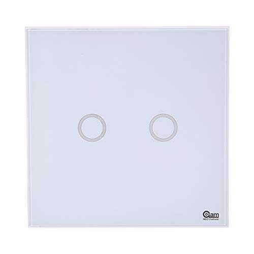 Z-Wave Smart lichtschakelaar, 2 CH versnellingen, Z-Wave, draadloos, glas, touchscreen-schakelaar, smart afstandsbediening, EU Light Switch Home Automation