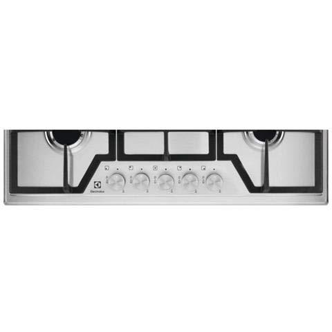 Electrolux - Piano Cottura agas Kgs 7536 Sx Finitura Inox da 75Cm