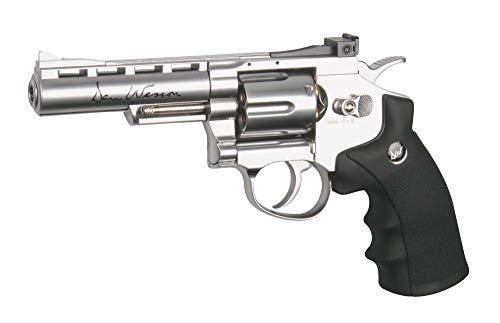 Dan Wesson RÉPLIQUE Airsoft 0,5 Joules Revolver Silver 4 Pouces 0.5 Joules (Vente Interdite aux Personnes âgées de Moins de 18 Ans)