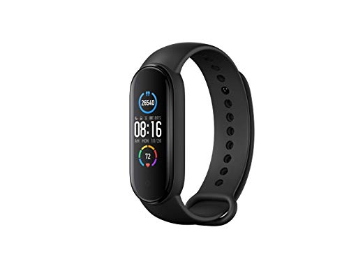 Xiaomi Mi Band 5 Black Health and Fitness Tracker, 14 Days Battery, Heart Rate Monitor, Sleep Tracker, Activity Tracker, 5ATM 50 m Water Resistance and Swimming Tracking, Pedometer, Sleep Counter