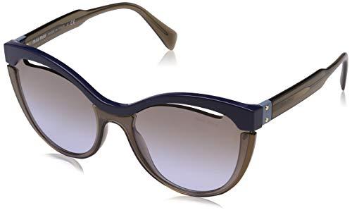 miu miu 0Mu01Ts Ue62H2 36 Occhiali da Sole, Blu (Bluee/Transparent Brown/Violetgradbrownmirrsilver), Donna