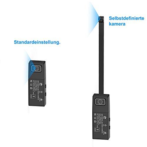 WLAN Mini Kamera, HD 1080P Dual-Objektiv DIY Kleine Tragbare Sicherheits Überwachungkamera Kindermädchen-Kamera IP-Kameras mit Bewegungserkennung Videoaufzeichnung für die Heimüberwachung