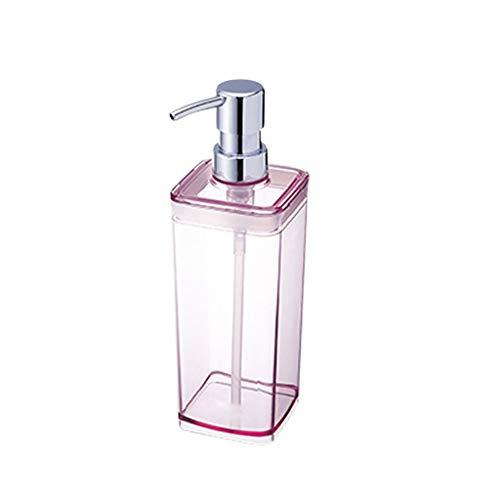Liquide Distributeur 300 ML 550 ML Rose Liquide Distributeur de Savon Liquide Shampooing Gel Douche Ménage (Color : Pink, Taille : 22.5 * 5.8cm)