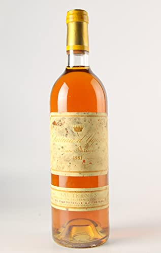CHÂTEAU D'YQUEM 1981-1er Cru Classé Supérieur - (Beschädigtes Etikett)