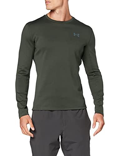 Under Armour Qualifier Coldgear - Camiseta de Manga Larga para Hombre, Hombre, Color Baroque Green, tamaño XXX-Large