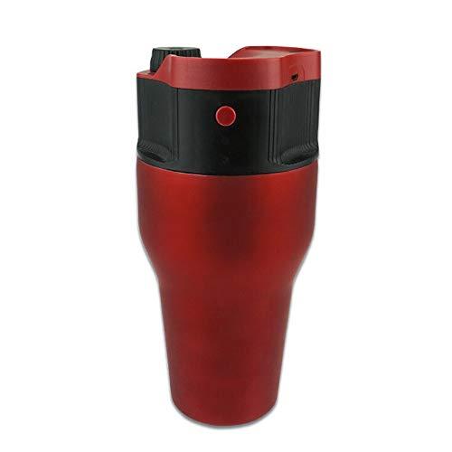 Portable Capsule Coffee Machine USB Power Mini Automatic Machine Household Outdoor Coffee Pot Coffee Maker Espresso Machines (Color : Red, Size : 10.5×21.8cm)