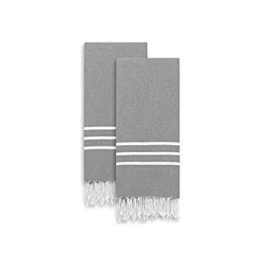 Linum Home Textiles ALR90-2PHT Alara Turkish Pestemal Hand/Guest Towels (Set of 2)