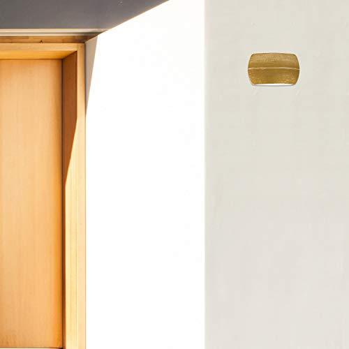 Buitenlamp wandlamp Reynosa van metaal en kunststof gouden okergeel L: 5cm B: 20cm H: 11cm IP44