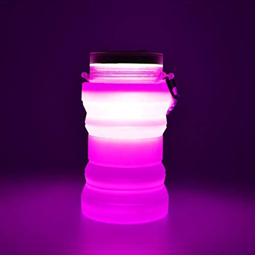 ABYYLH Tasse a Café Pliante, Tasse de Voyage Pliable en Silicone, sans Bpa De Qualité Alimentaire - Mug Coffee Cup Café Mug - Se Range Facilement dans Une Poche ou Un Sac,Pink