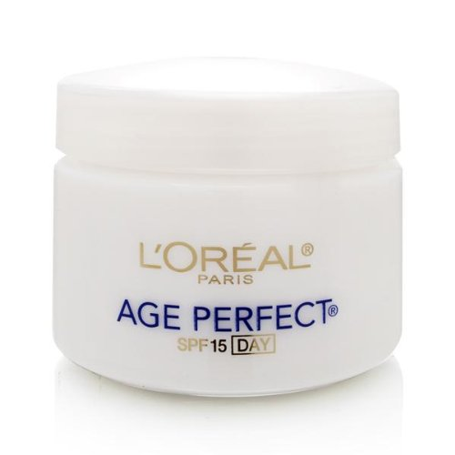 Day Moisturizer, L'Oreal Paris Age Perfect Anti-Aging Day Cream Face Moisturizer With Soy Seed Proteins and SPF 15 Sunscreen for Sagging Skin and Age Spots, Evens Tone and Hydrates Deeply, 2.5 Oz