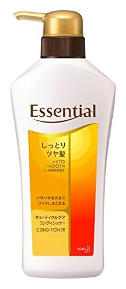 装置チューブ高架エッセンシャル コンディショナー しっとりツヤ髪 ポンプ 480ml Japan