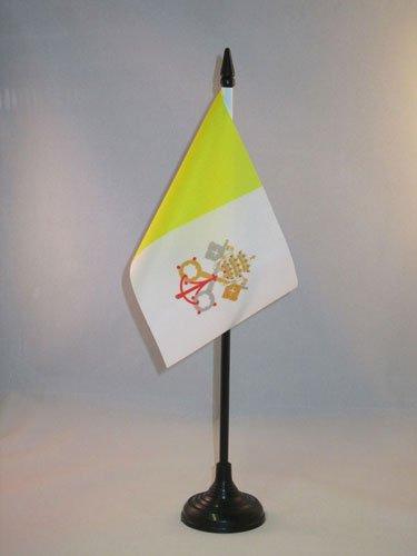 AZ FLAG Drapeau de Table Vatican 15x10cm - Petit Drapeaux DE Bureau Vatican 10 x 15 cm