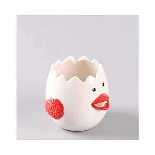 NNR Cenicero Cenicero Creativo Decoraciones artesanía Artesanal Caja de Almacenamiento de cerámica Caja de Almacenamiento de joyería Cenicero Interior (Color : Red)