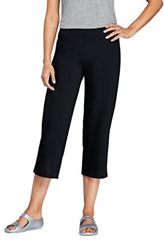 Lands' End Womens Starfish Crop Pants Black Plus 2X